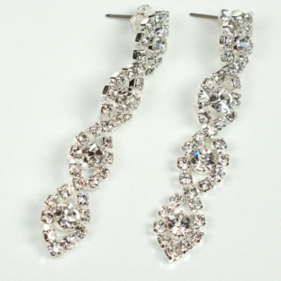 Štrasové a perlové naušnice   Štrasové náušnice - 68297c33b81