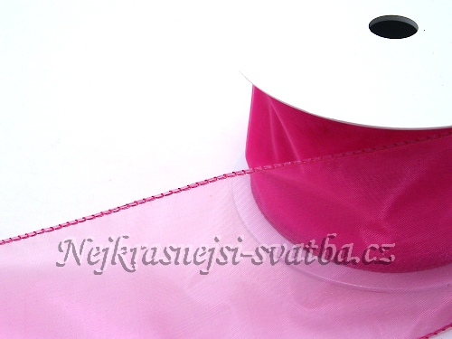 Organzové stuhy do 10cm   Stuha šifon fuchsiová střední - 96d12ab1b10
