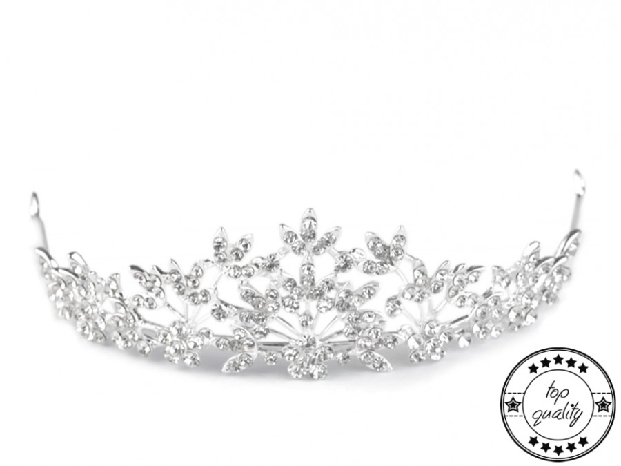 c461469452d Svatební čelenky a vlasové ozdoby   Svatební korunka s hřebínkem -