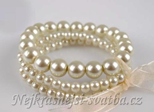 a46966ab3 Bižuterie, svatební soupravy, čelenky, náramky, náušnice » Štrasové a perlové  náramky