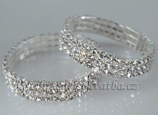 a076a5a2959 Štrasové a perlové náramky   Svatební náramek Trio -