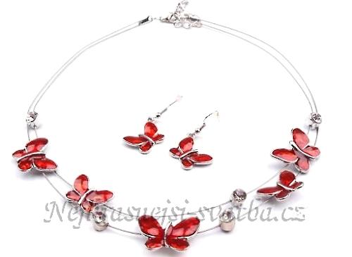 0354772c043 Barevné štrasové soupravy a náhrdelníky   Svatební souprava Motýl ...