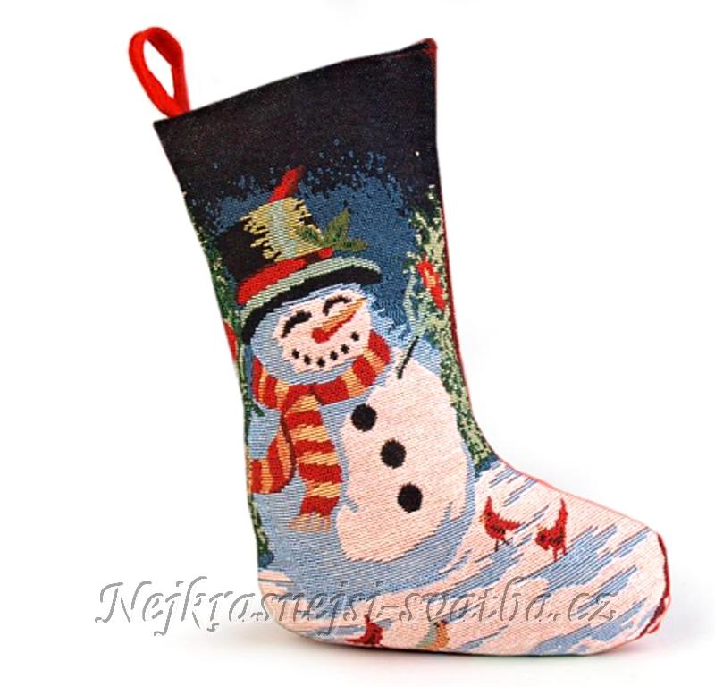 5e675f6dad8 Vánoční mikulašská bota Sněhulák -